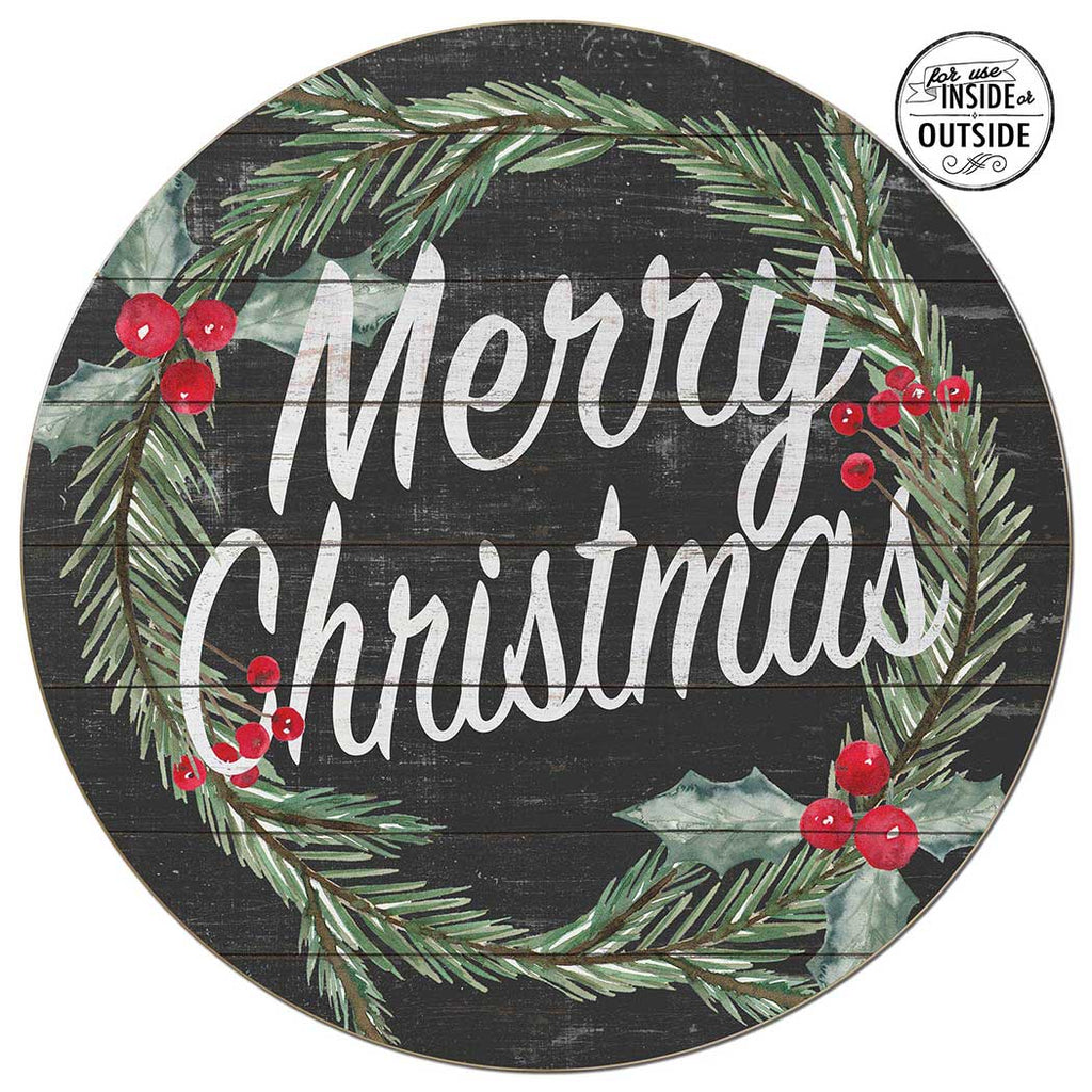 20X20 Indoor Outdoor Merry Christmas Circle Sign