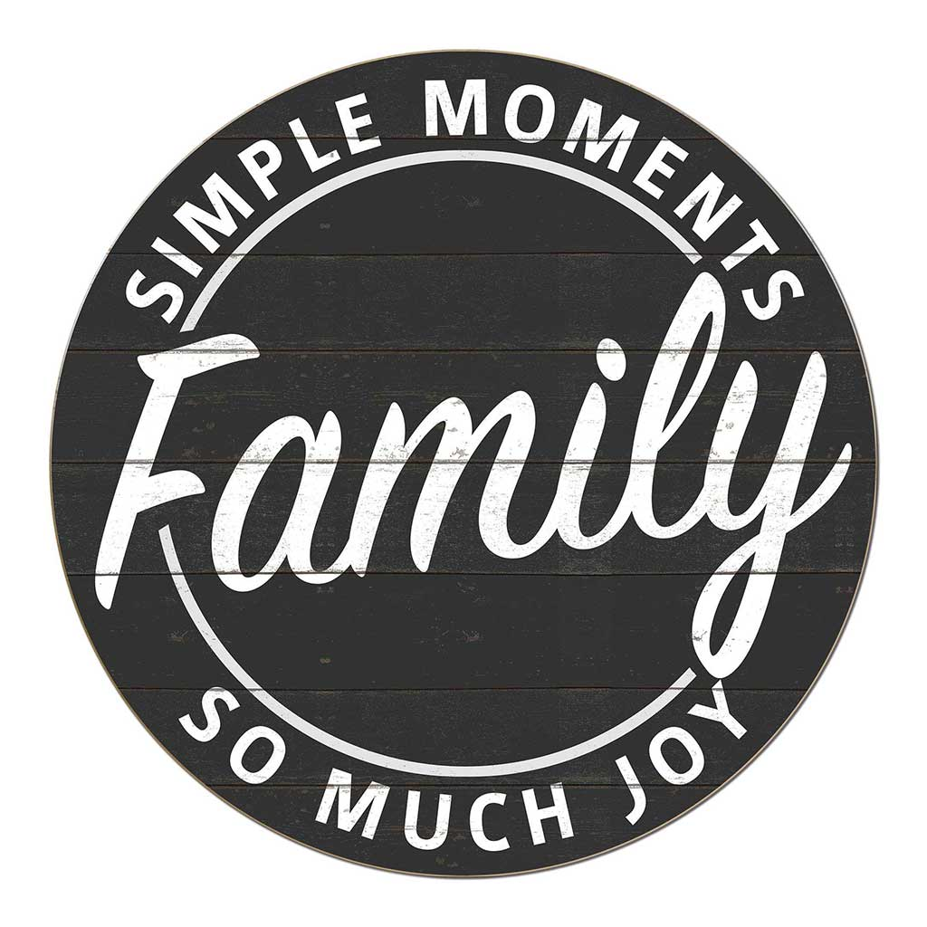 20X20 Indoor Outdoor Charcoal Moments Family Circle Sign