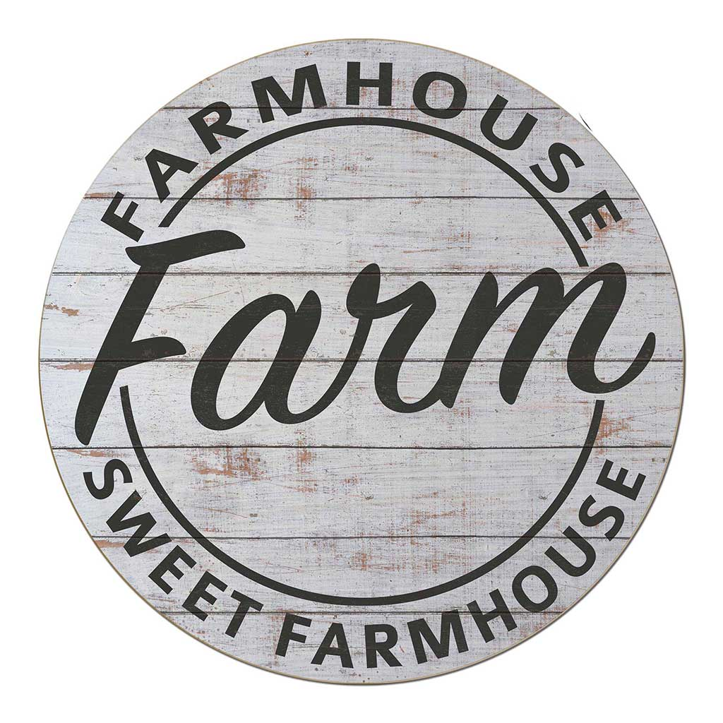 20X20 Indoor Outdoor Whitewash Farmhouse Circle Sign