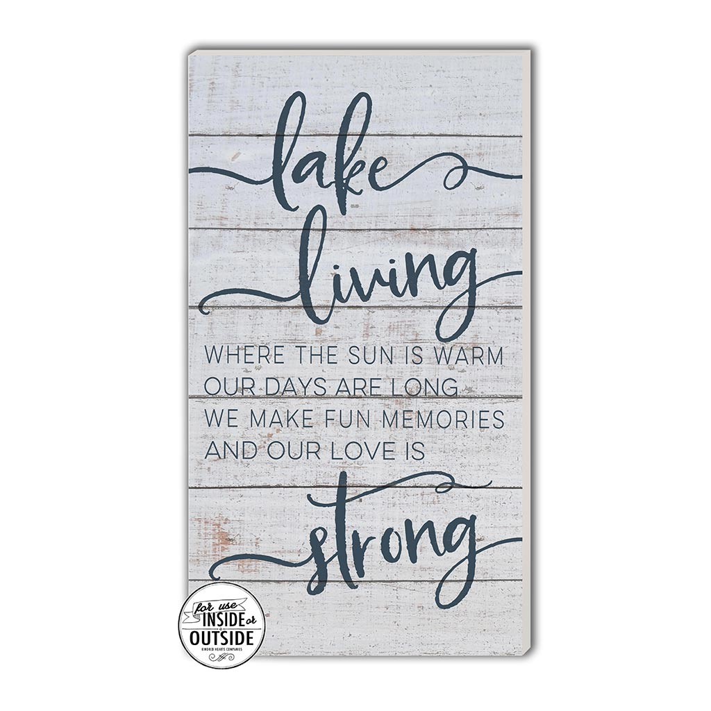11x20 Indoor Outdoor Whitewash Sign Lake Living