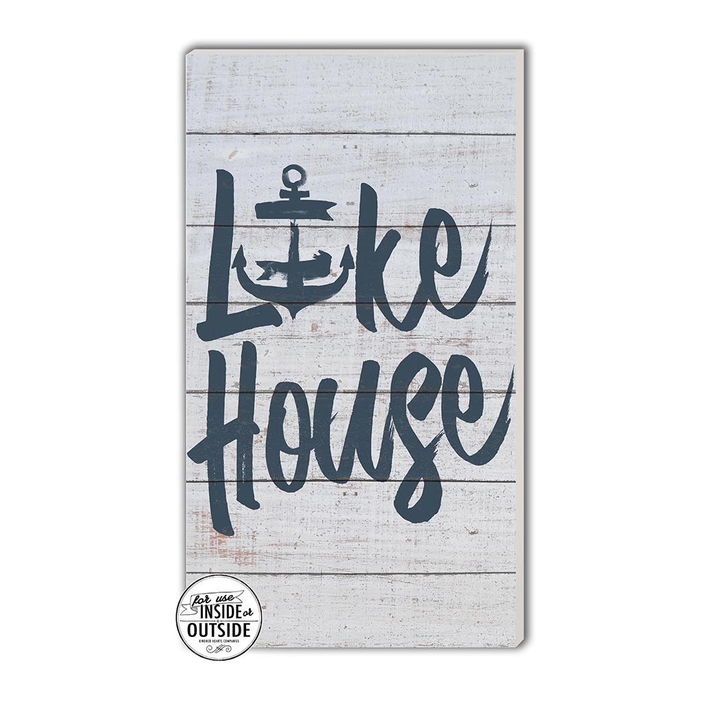 11x20 Indoor Outdoor Whitewash Sign Lake House