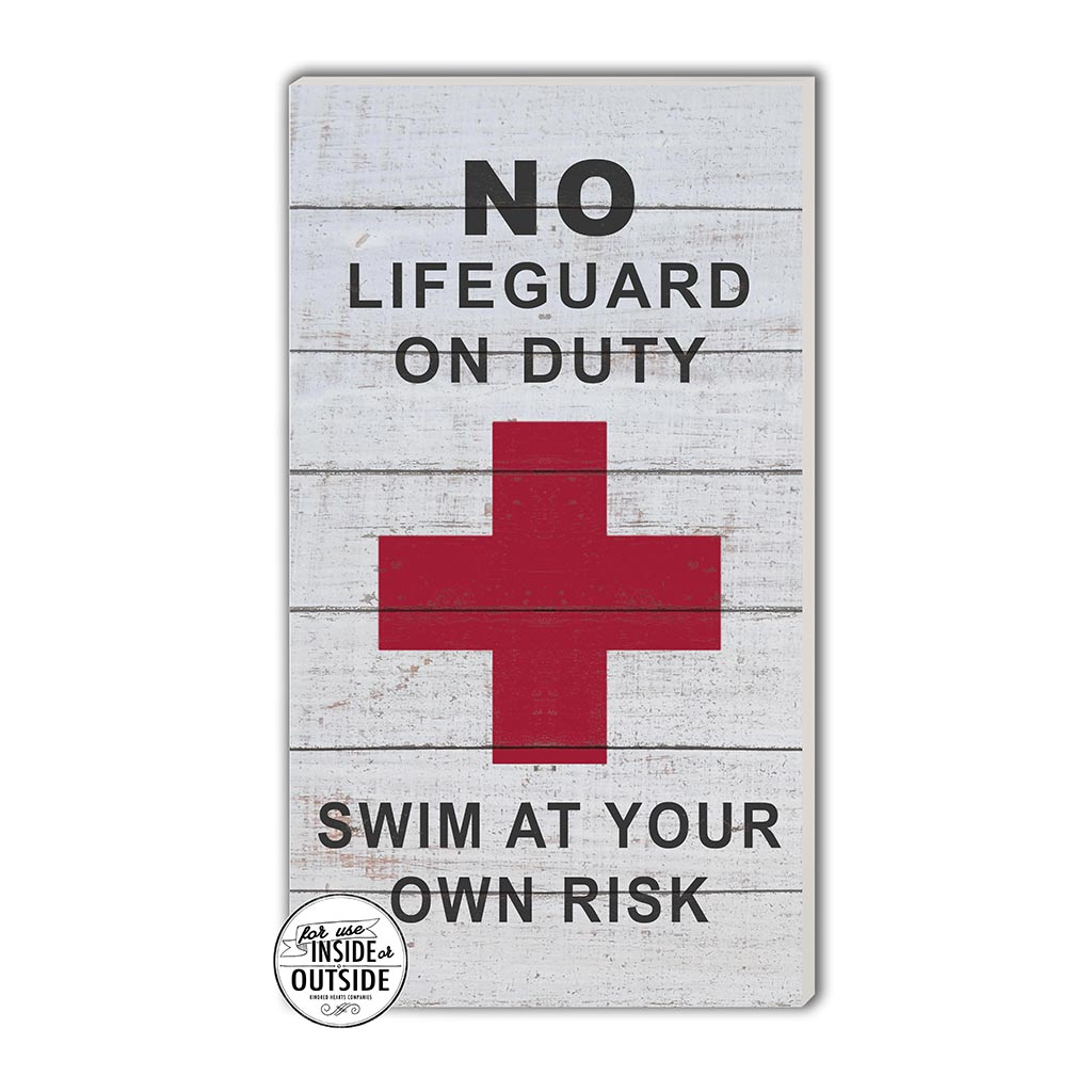 11x20 Indoor Outdoor Whitewash Sign No Lifeguard