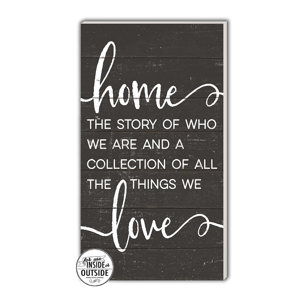 11x20 Indoor Outdoor Charcoal Sign Home Story