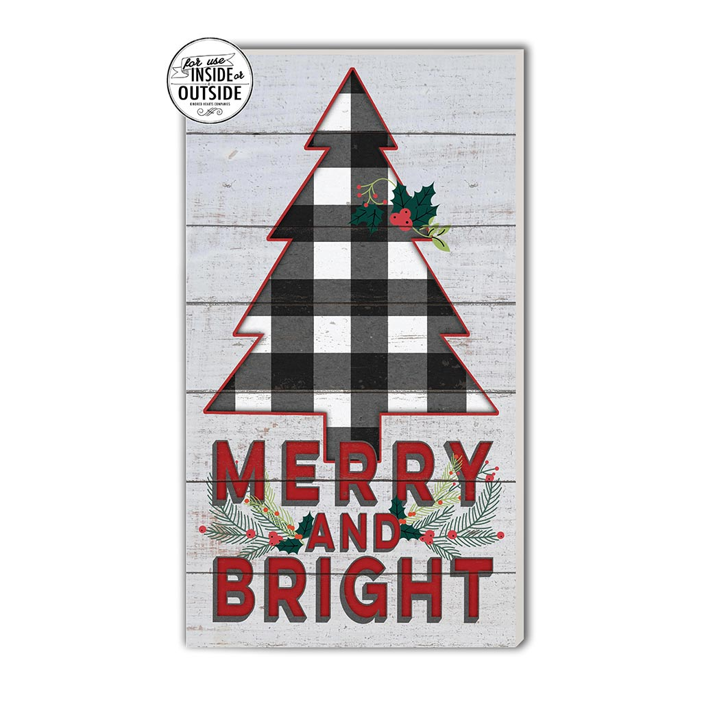 11x20 Indoor Outdoor Whitewash Sign Merry and Bright