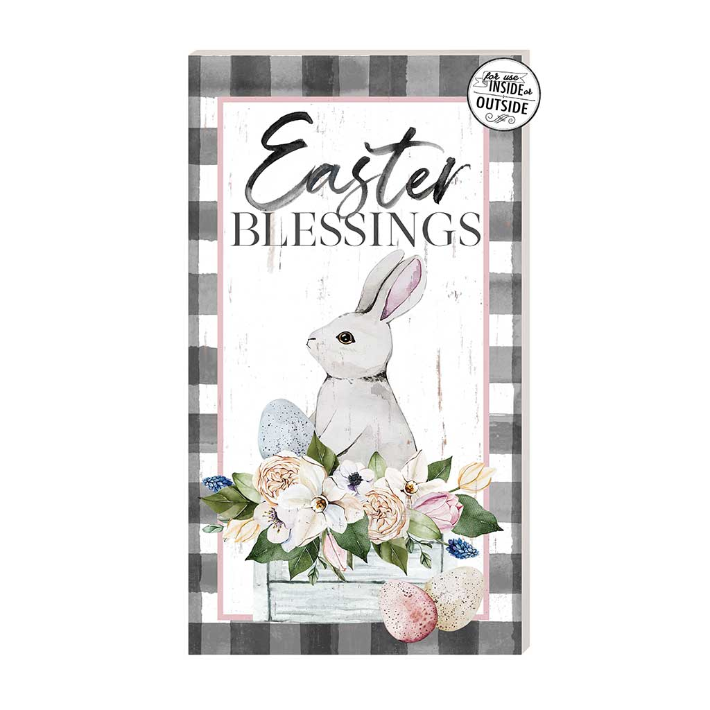 11x20 Easter Blessings Buffalo Print Indoor Outdoor Sign