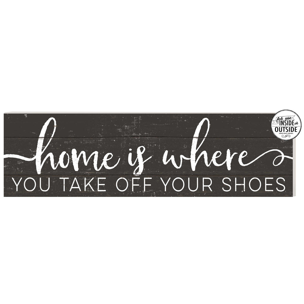 35x10 Indoor Outdoor Charcoal Sign Home is Where