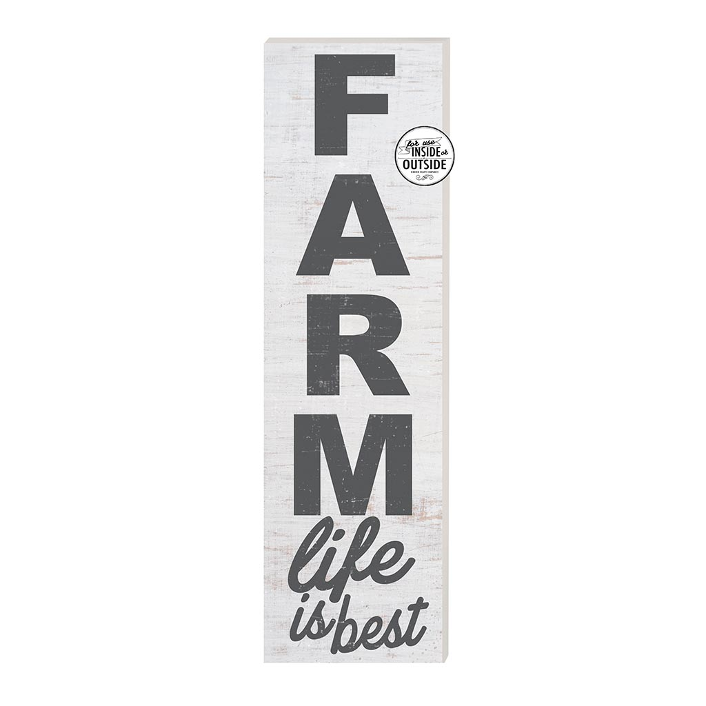10x35 Indoor Outdoor Whitewash Sign FARM Life is Best