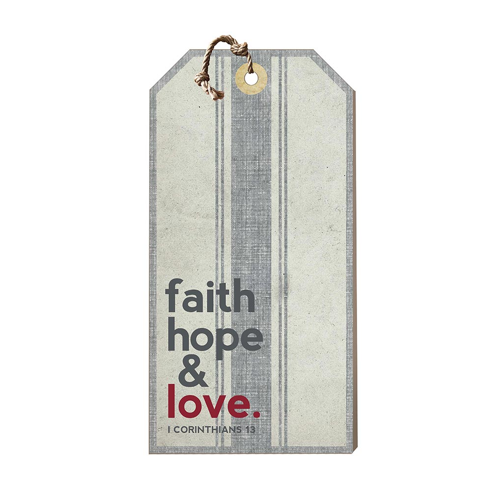 Large Hanging Tag Faith Hope Love