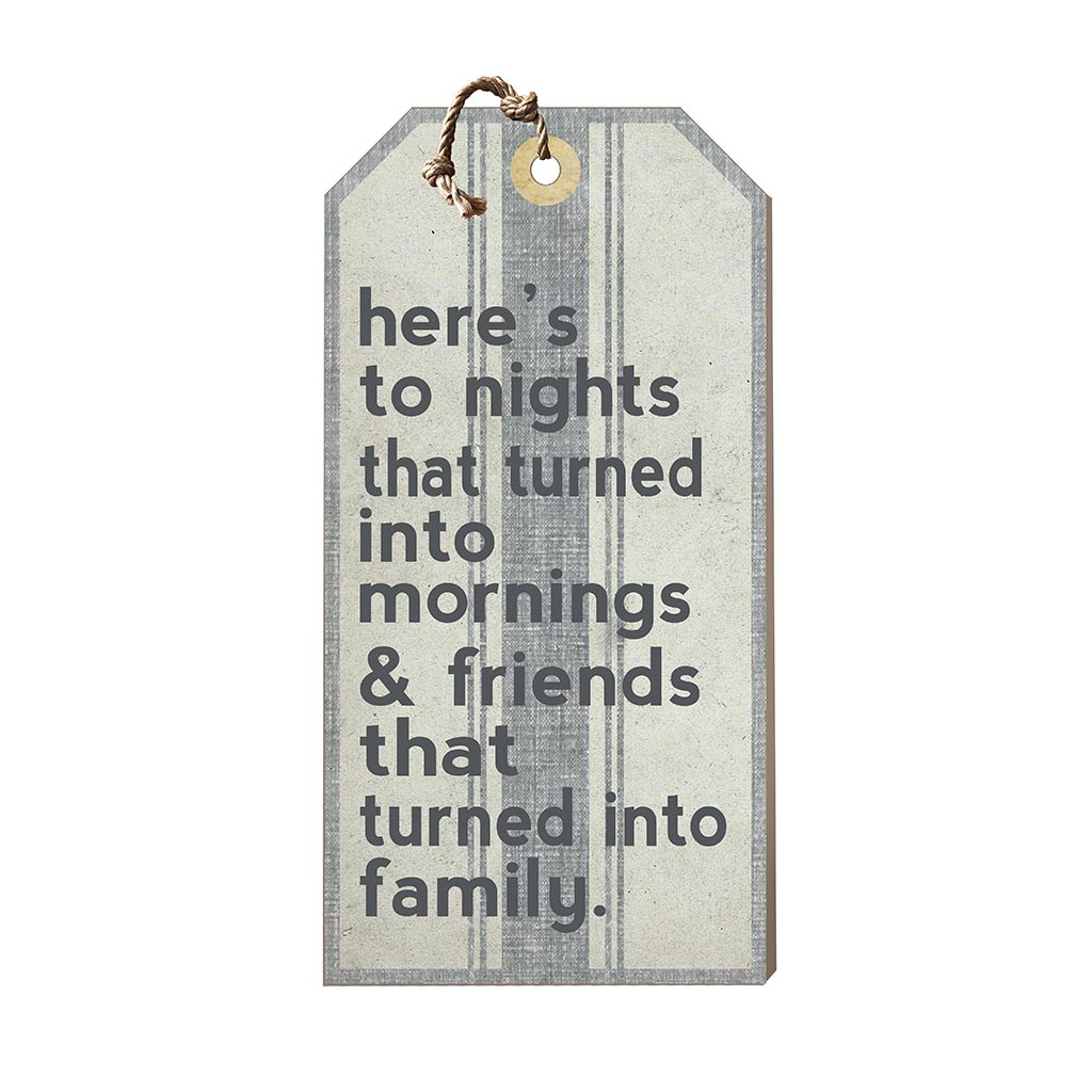 Large Hanging Tag Here's to Nights