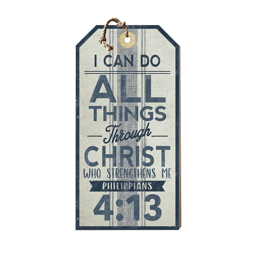 Large Hanging Tag I Can Do All Things Through Christ