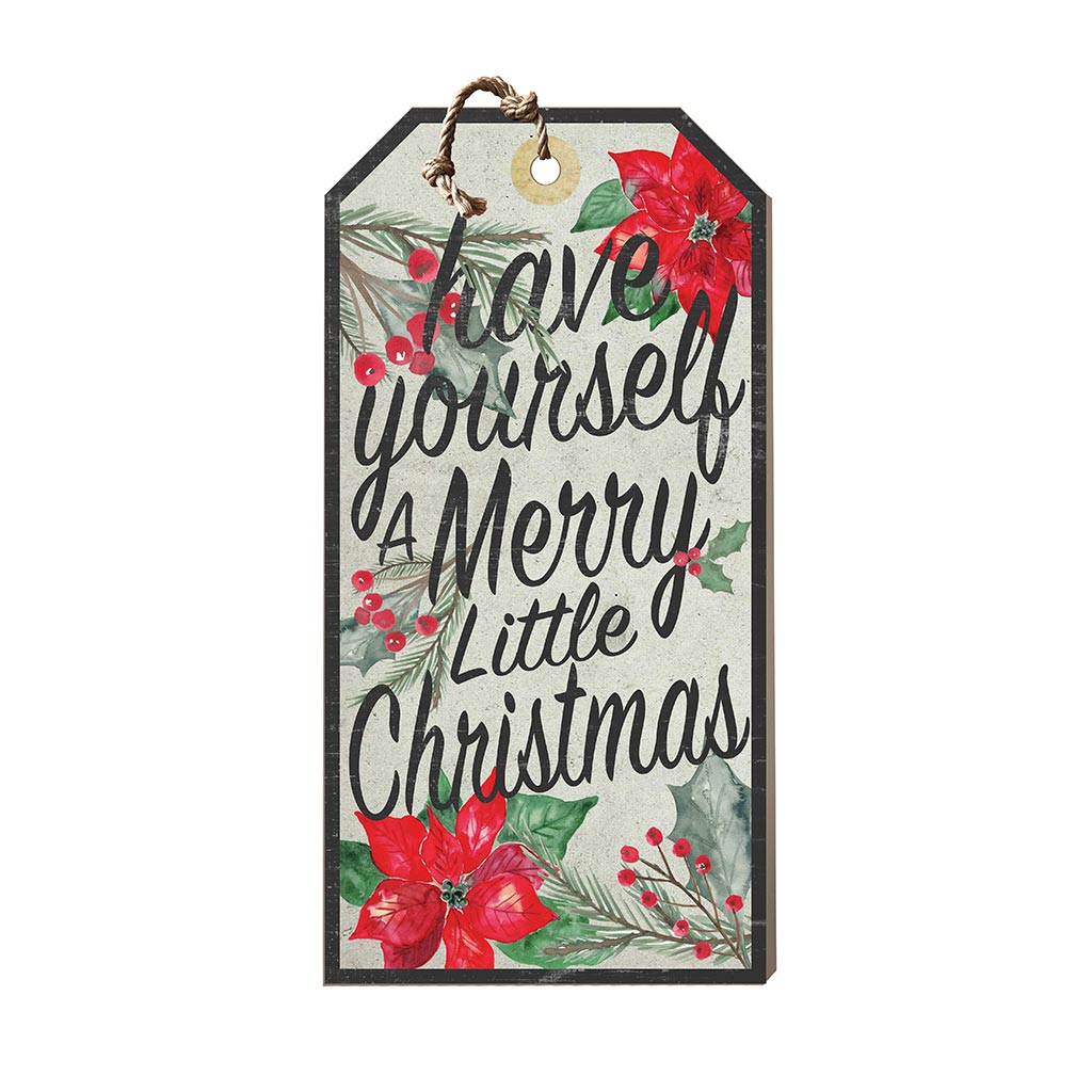 Large Hanging Tag Merry Little Christmas