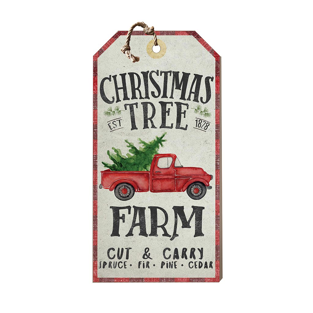 Large Hanging Tag Christmas Tree Farm
