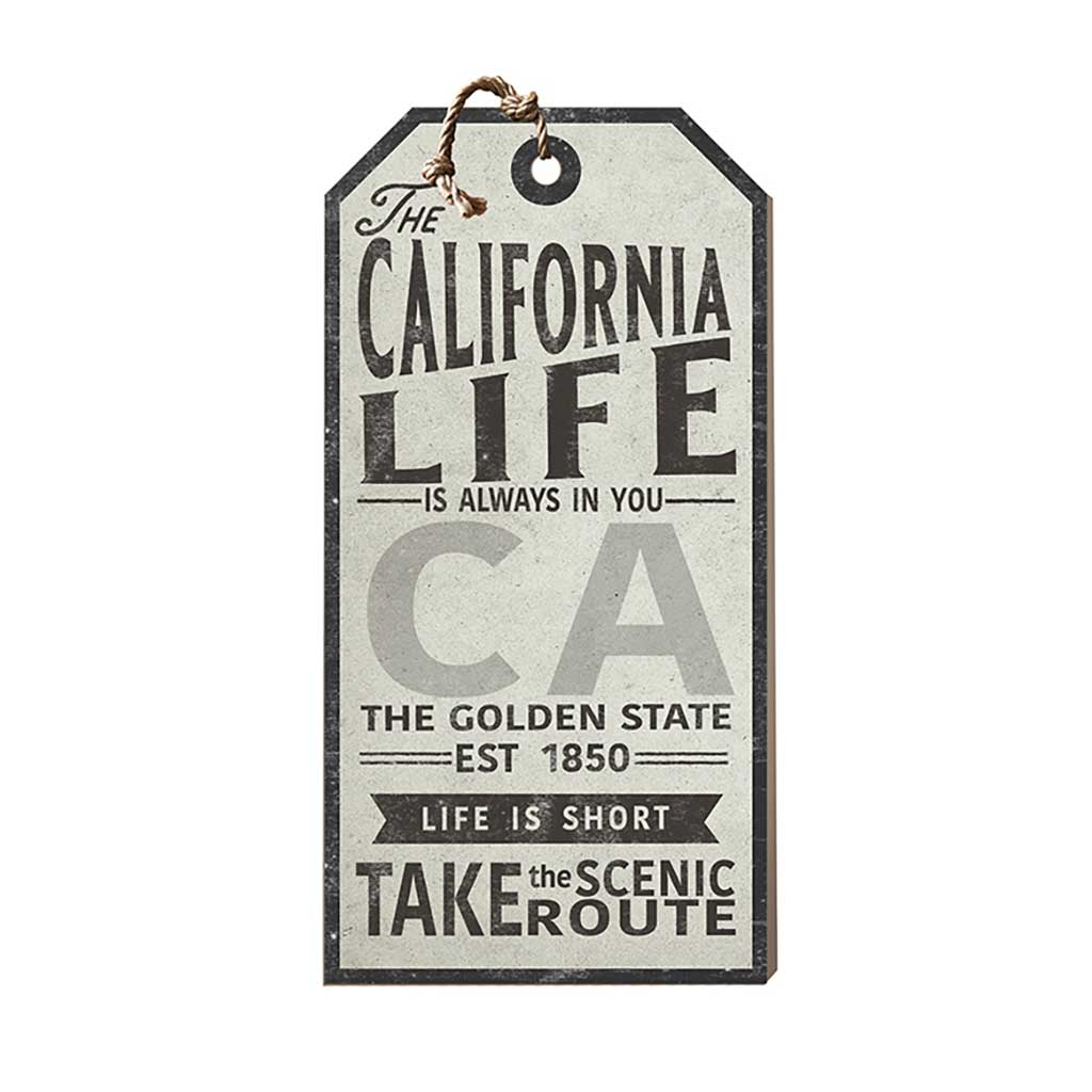 California Life Large Hanging Tag
