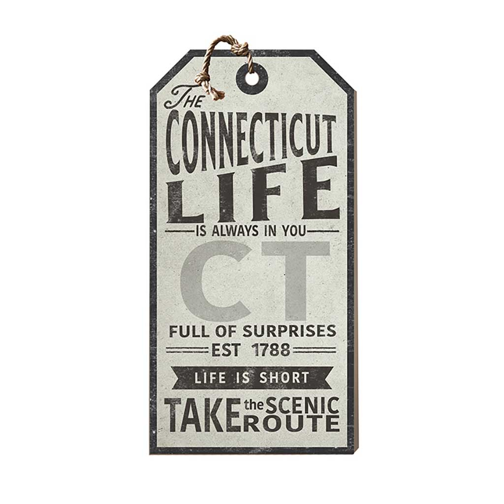 Connecticut Life Large Hanging Tag