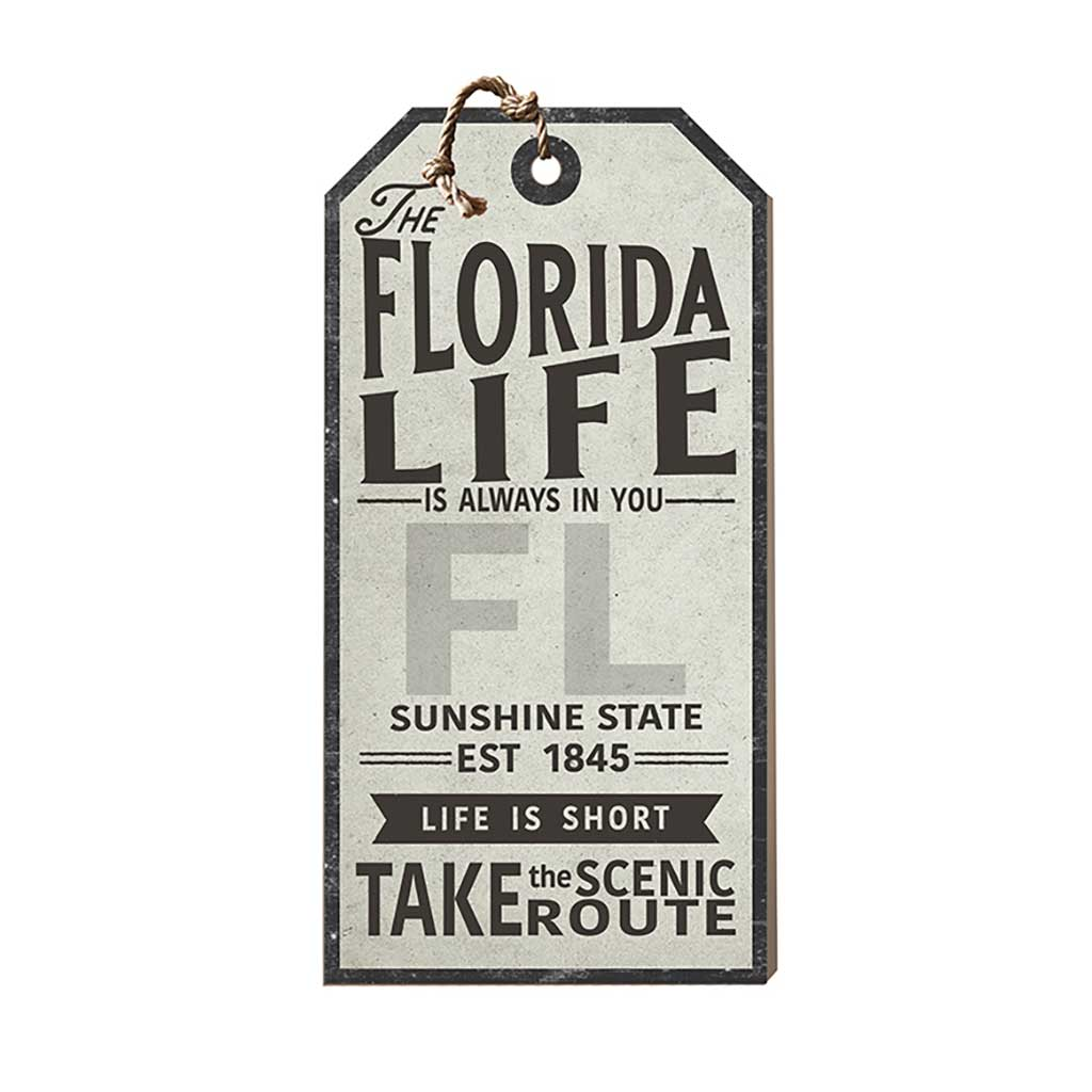 Florida Life Large Hanging Tag