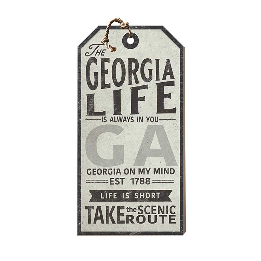 Georgia Life Large Hanging Tag