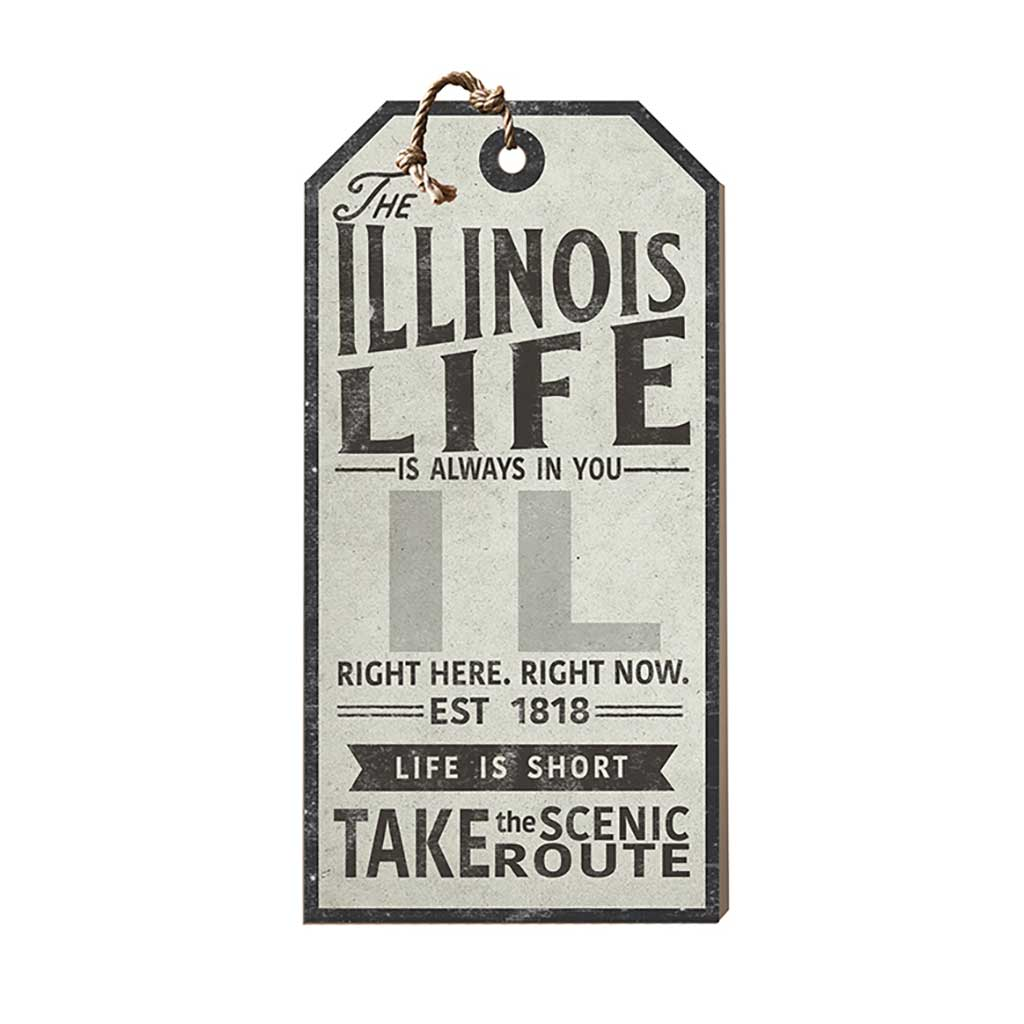 Illinois Life Large Hanging Tag