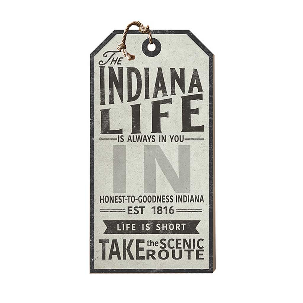Indiana Life Large Hanging Tag