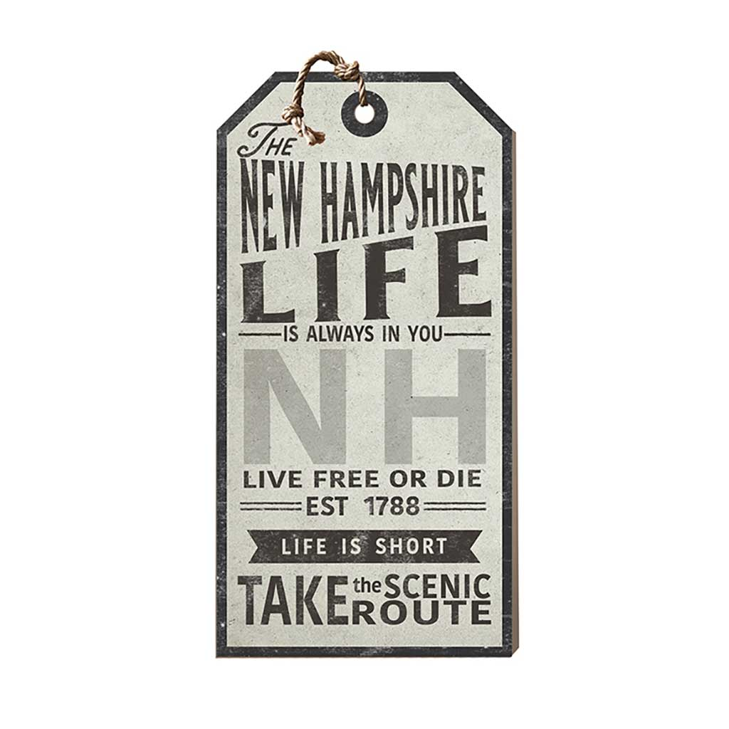 New Hampshire Life Large Hanging Tag