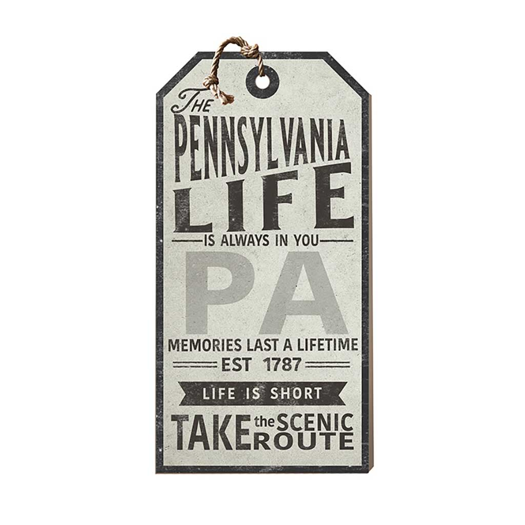 Pennsylvania Life Large Hanging Tag