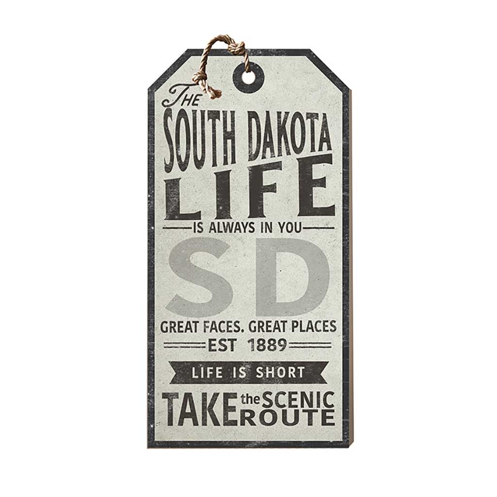 South Dakota Life Large Hanging Tag