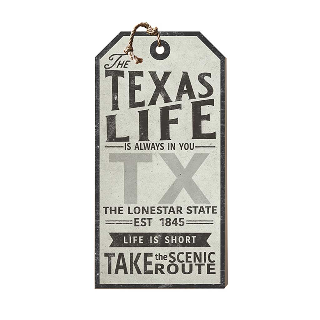 Texas Life Large Hanging Tag