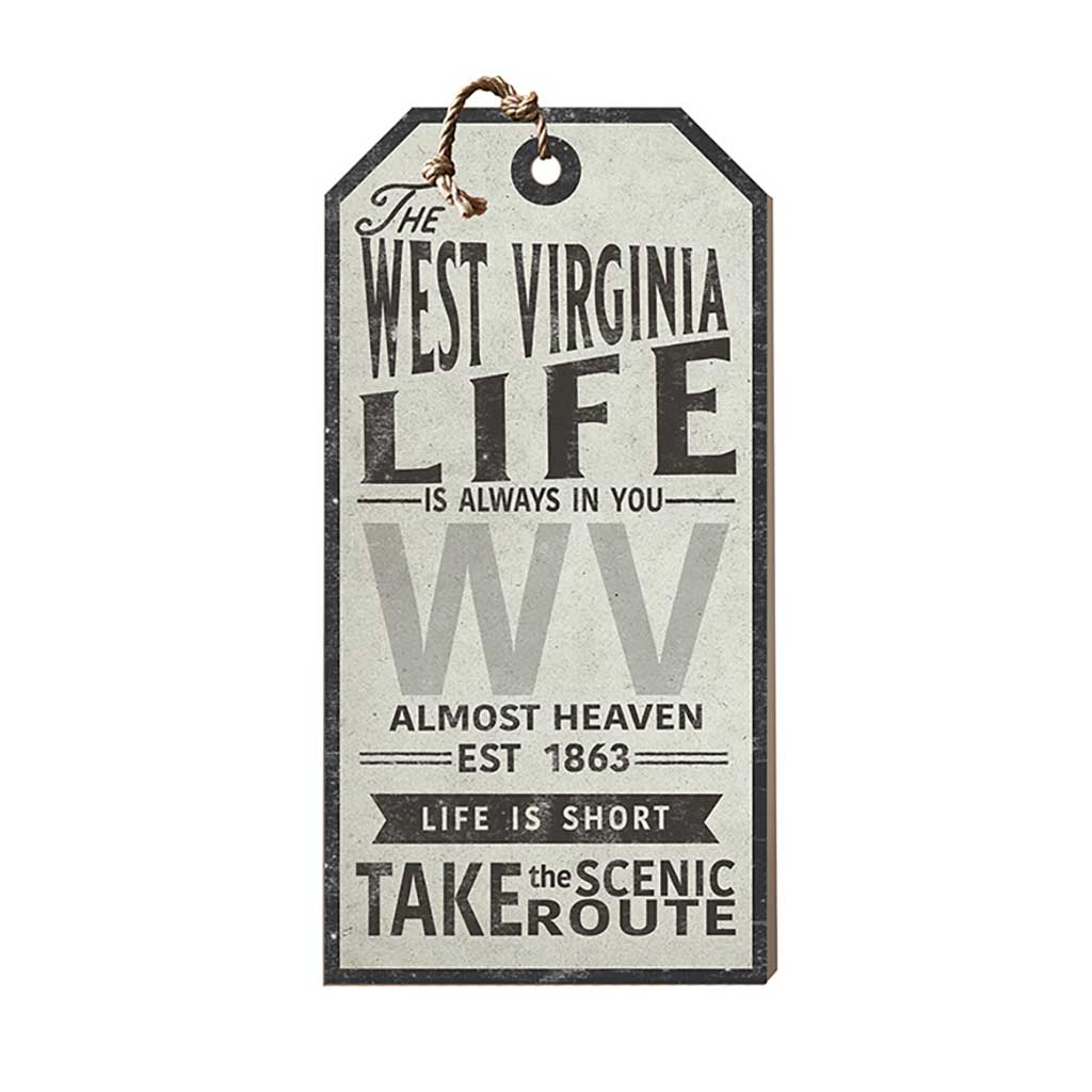 West Virginia Life Large Hanging Tag