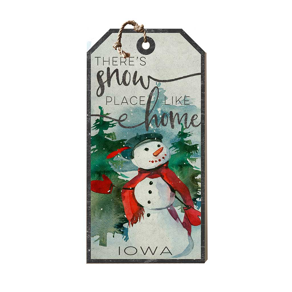 Large Hanging Tag Snowplace Like Home Iowa
