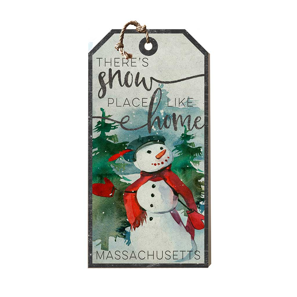 Large Hanging Tag Snowplace Like Home Massachusetts