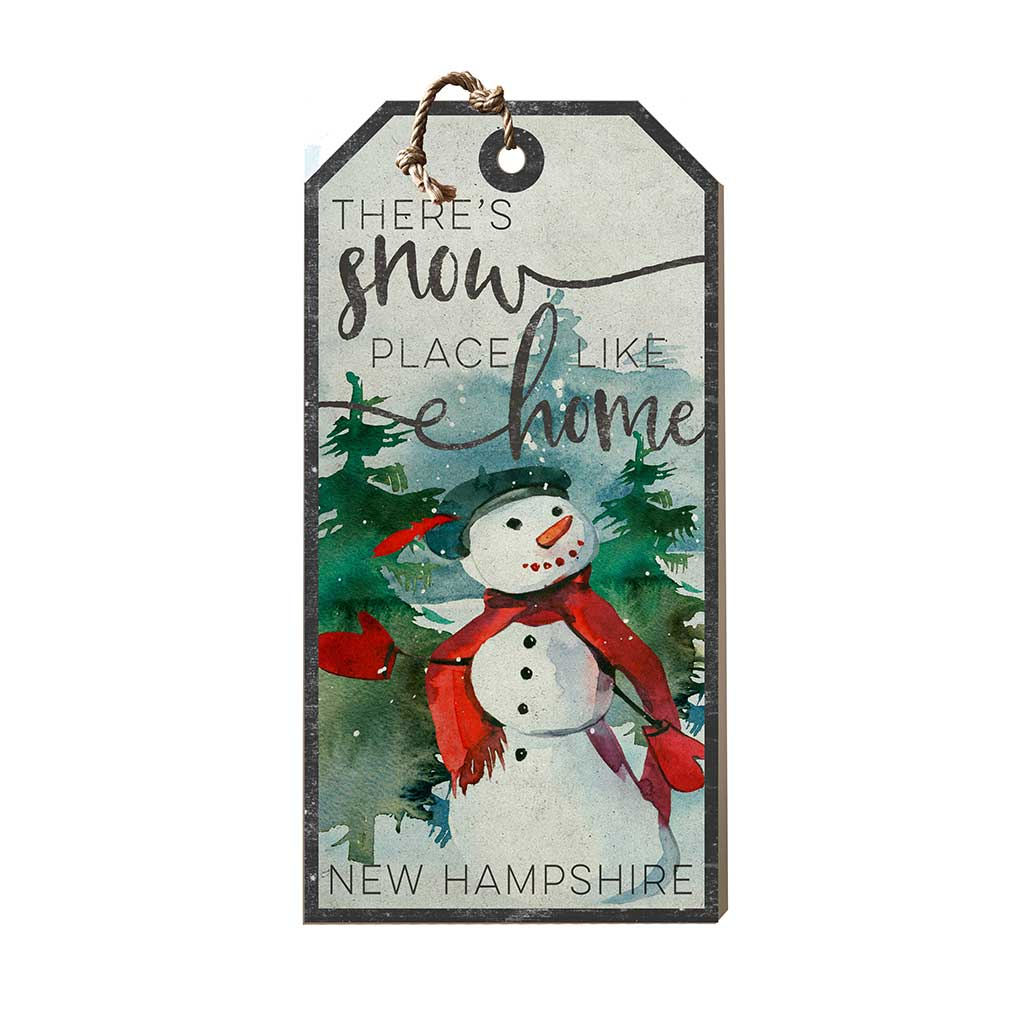 Large Hanging Tag Snowplace Like Home New Hampshire