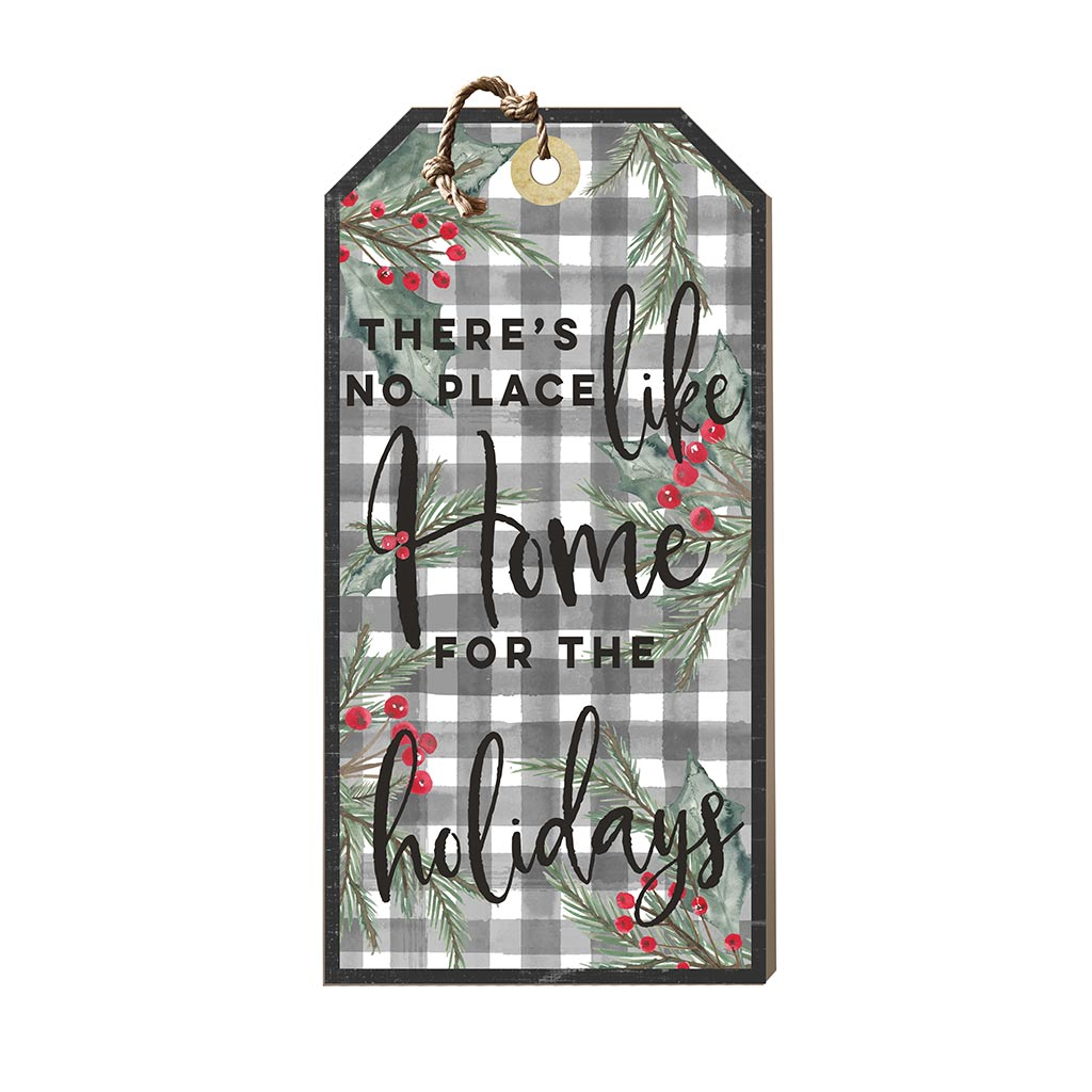 Large Hanging Tag No Place Like Home for Holidays