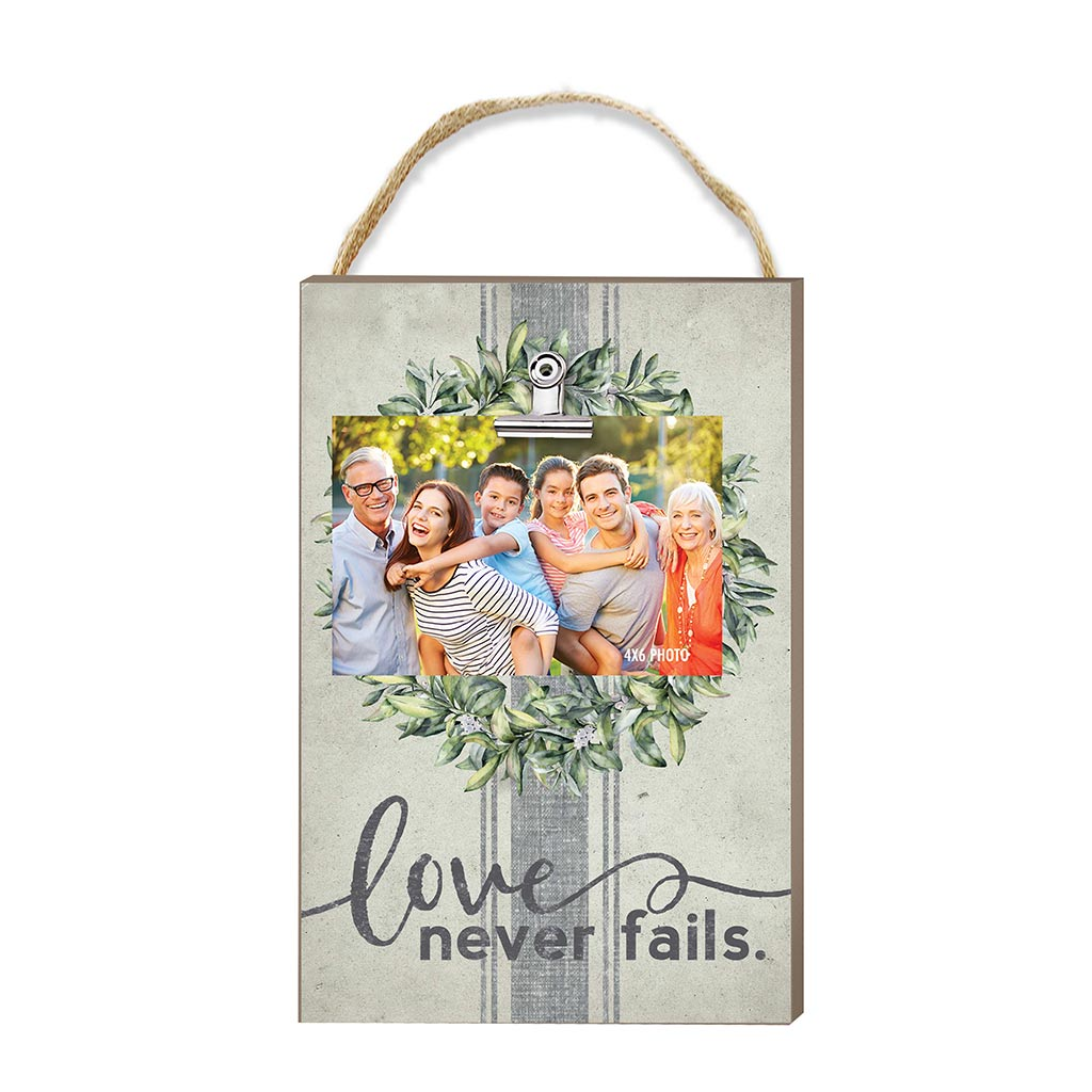 Hanging Clip Photo Frame Love Never Fails