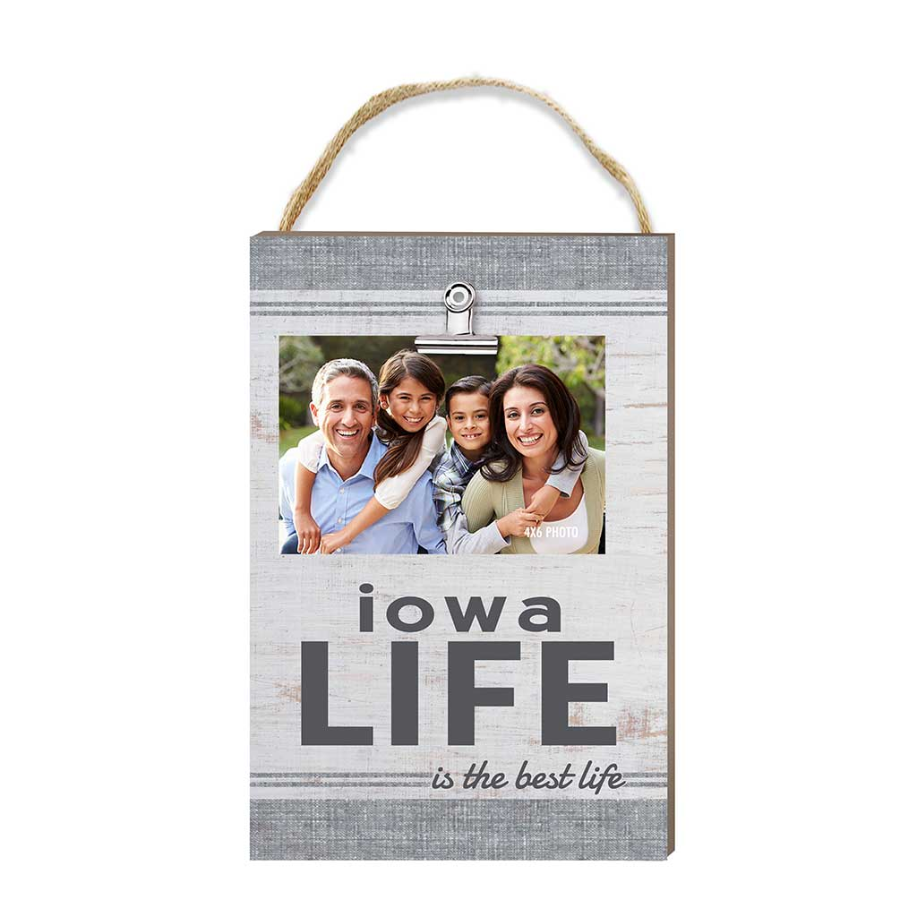 Iowa Life Hanging Clip Photo Frame
