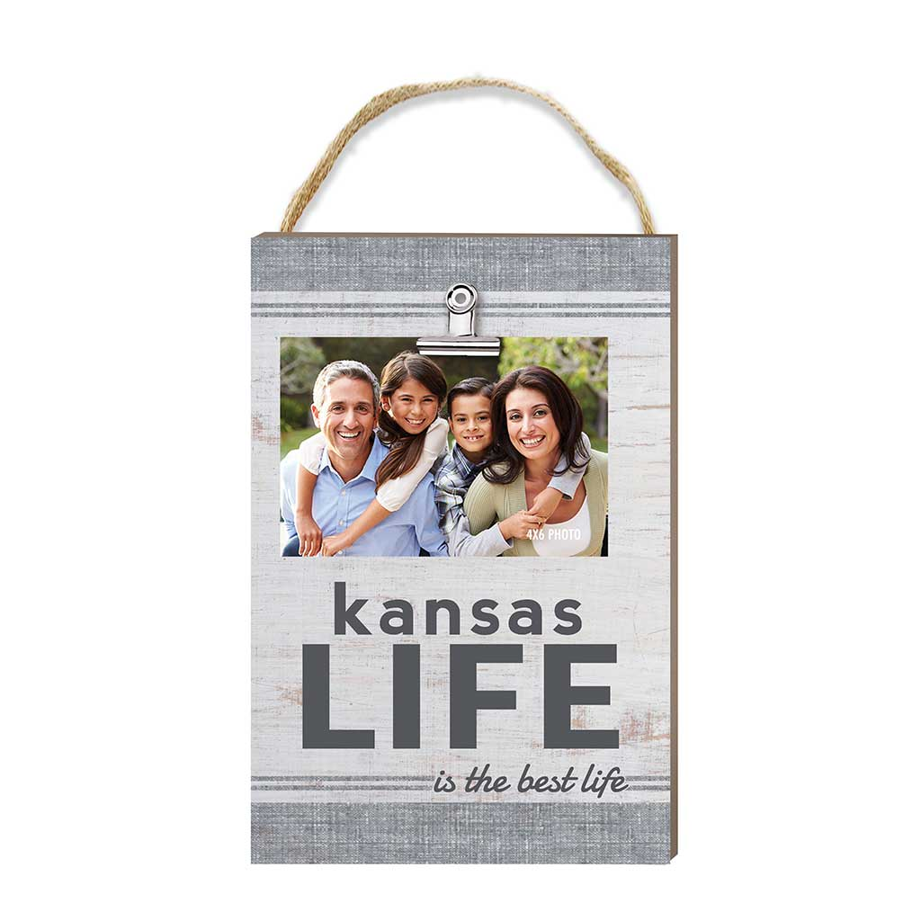 Kansas Life Hanging Clip Photo Frame