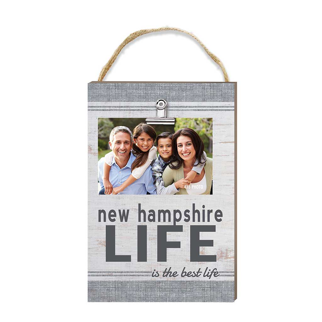 New Hampshire Life Hanging Clip Photo Frame