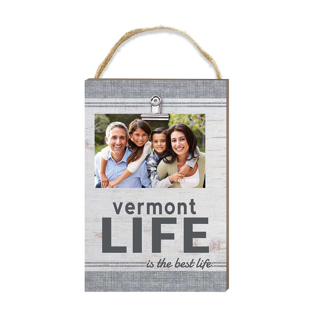 Vermont Life Hanging Clip Photo Frame