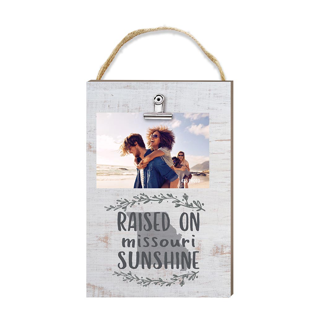 Raised on Missouri Sunshine Hanging Clip Photo Frame