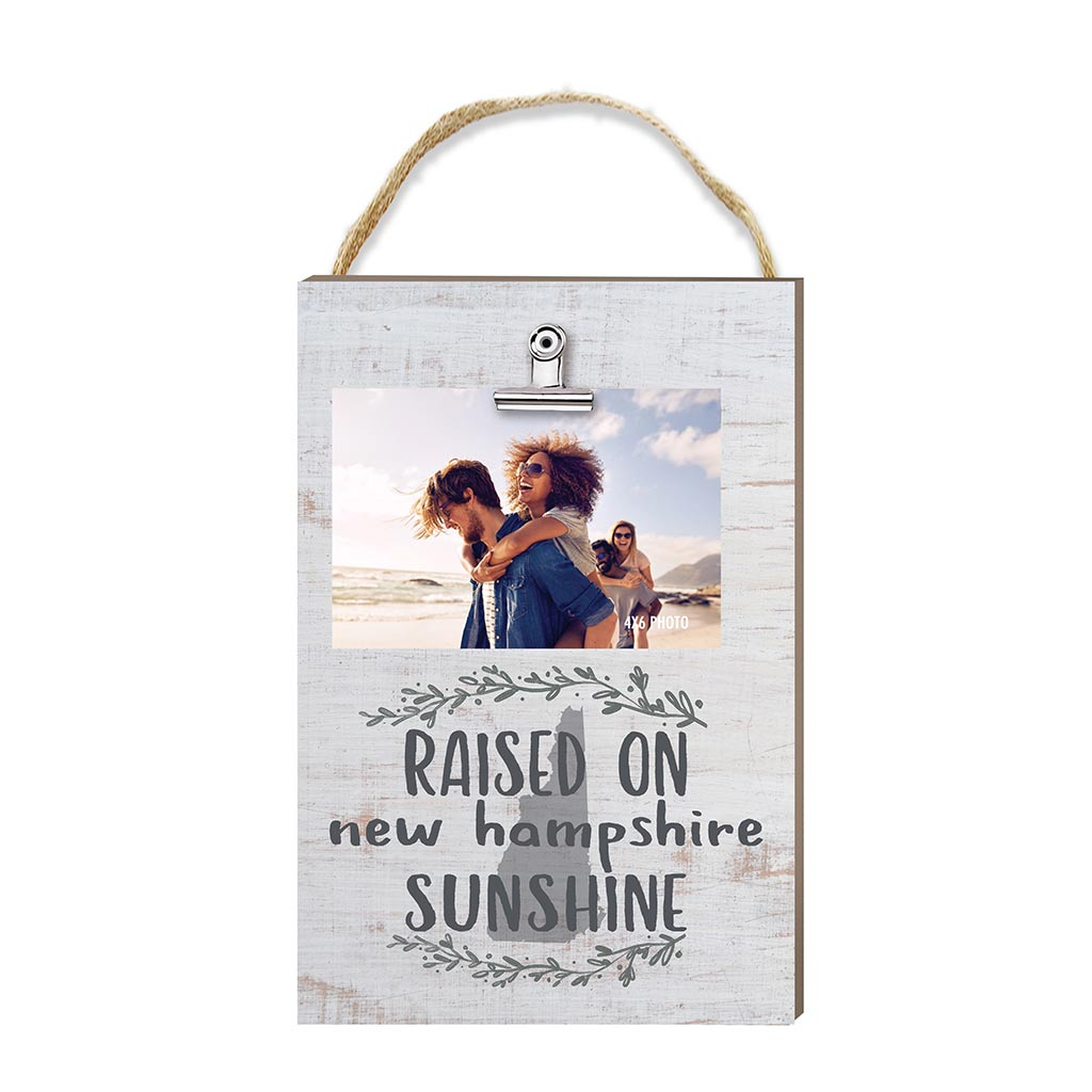Raised on New Hampshire Sunshine Hanging Clip Photo Frame