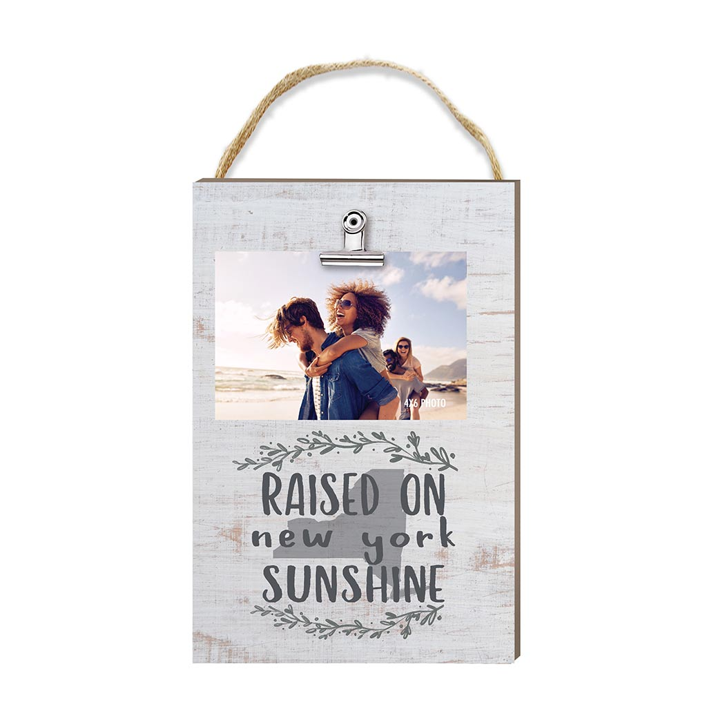 Raised on New York Sunshine Hanging Clip Photo Frame