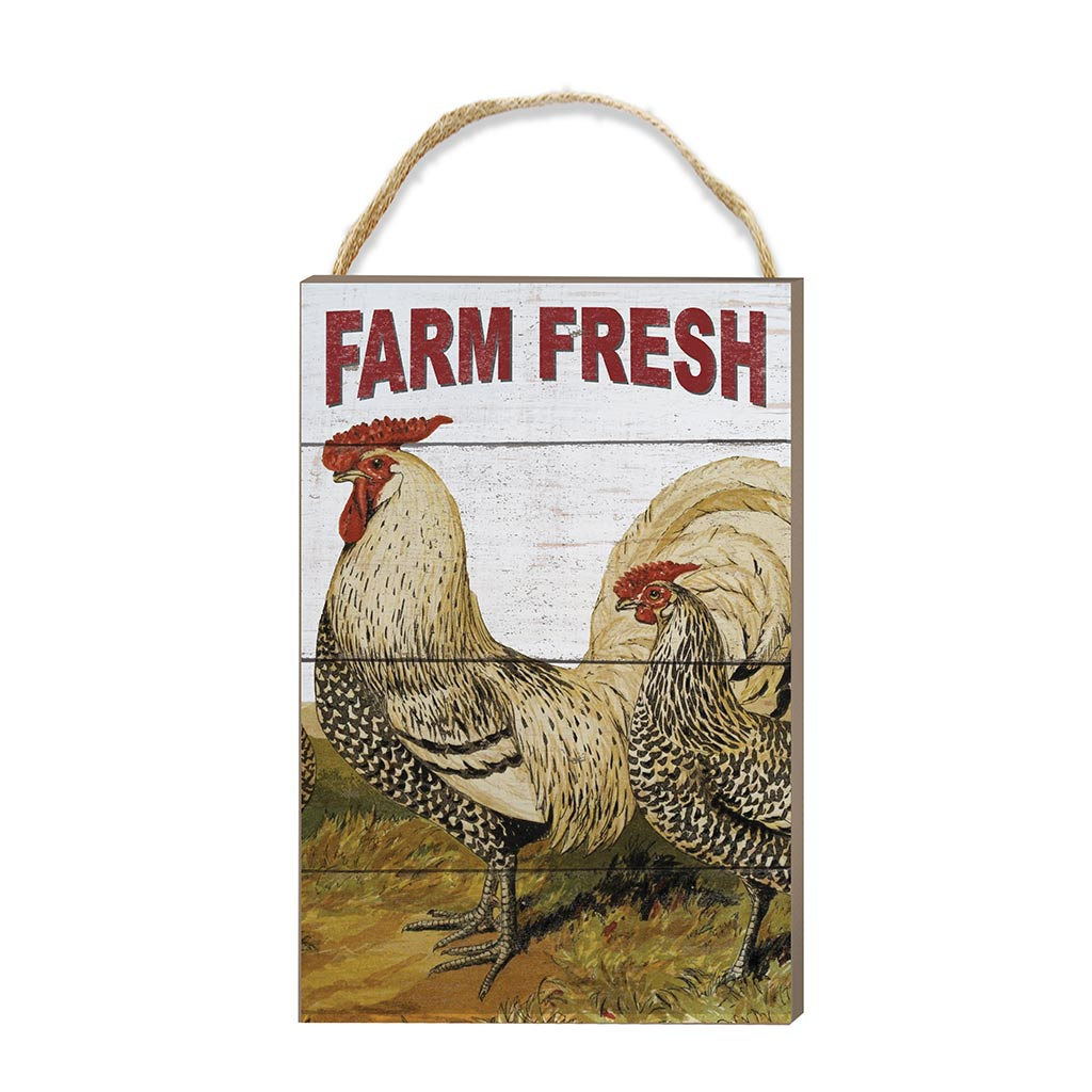 8x12 Farm Fresh Rooster Hanging Sign