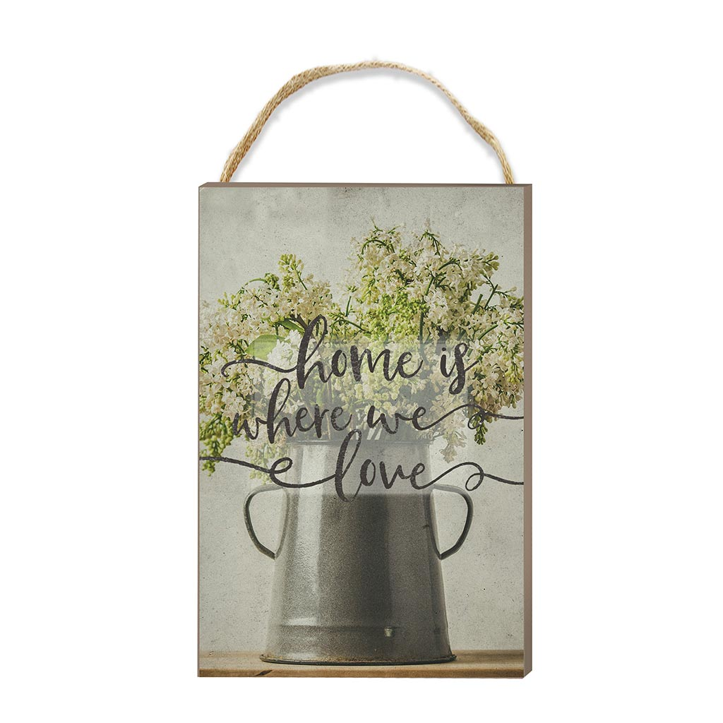8x12 Home is Where We Love Hanging Sign