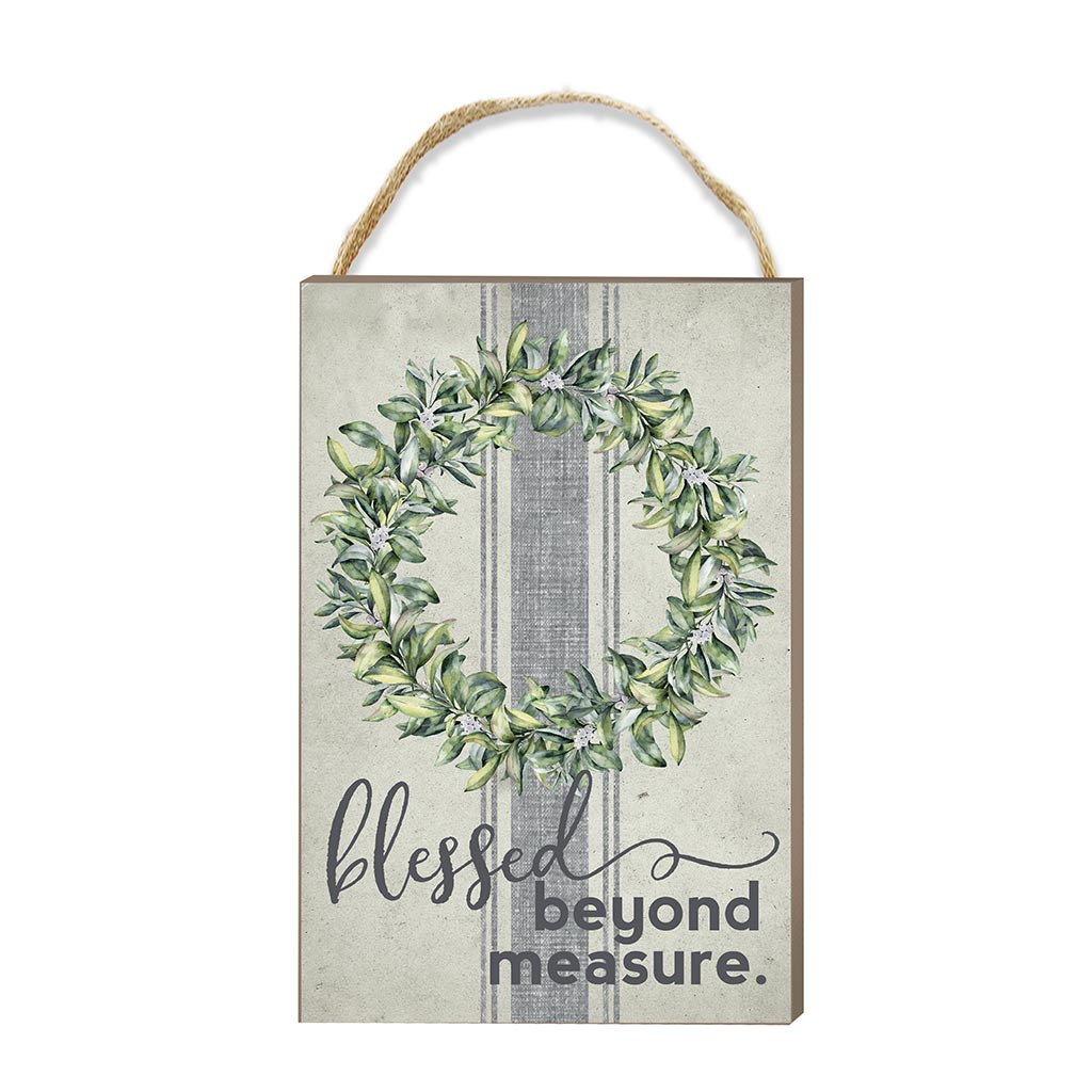 8x12 Blessed Beyond Measure Hanging Sign
