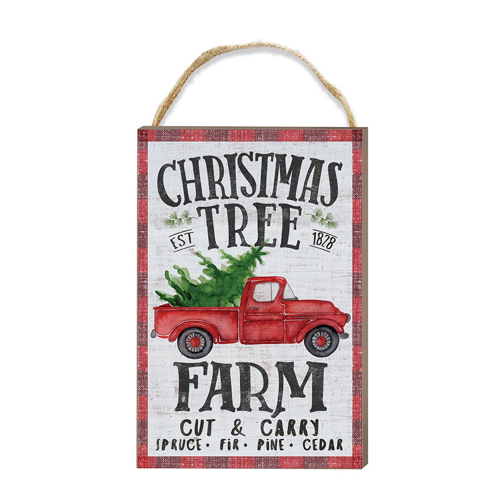 8x12 Christmas Tree Farm Hanging Sign