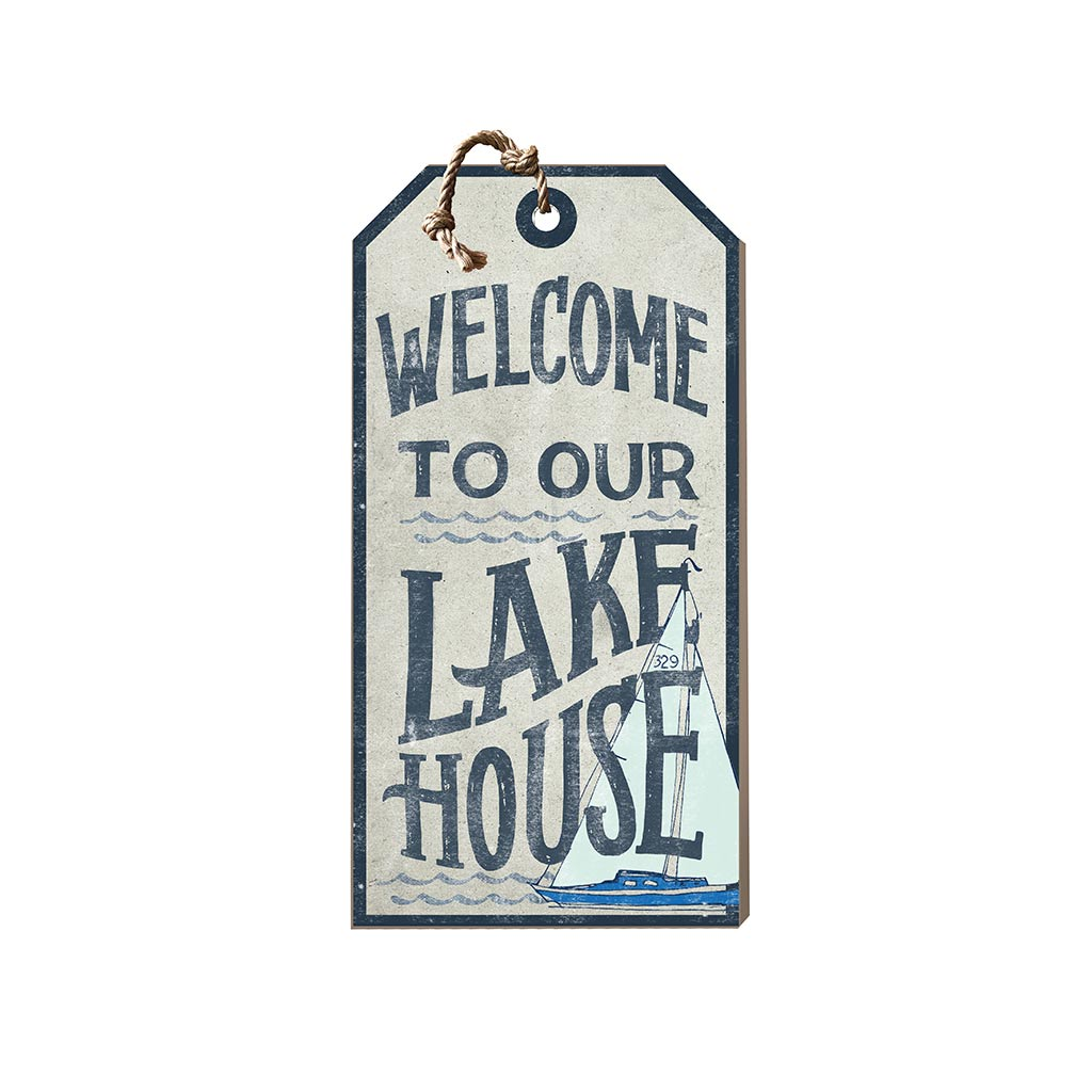 Small Hanging Tag Welcome to Lake House