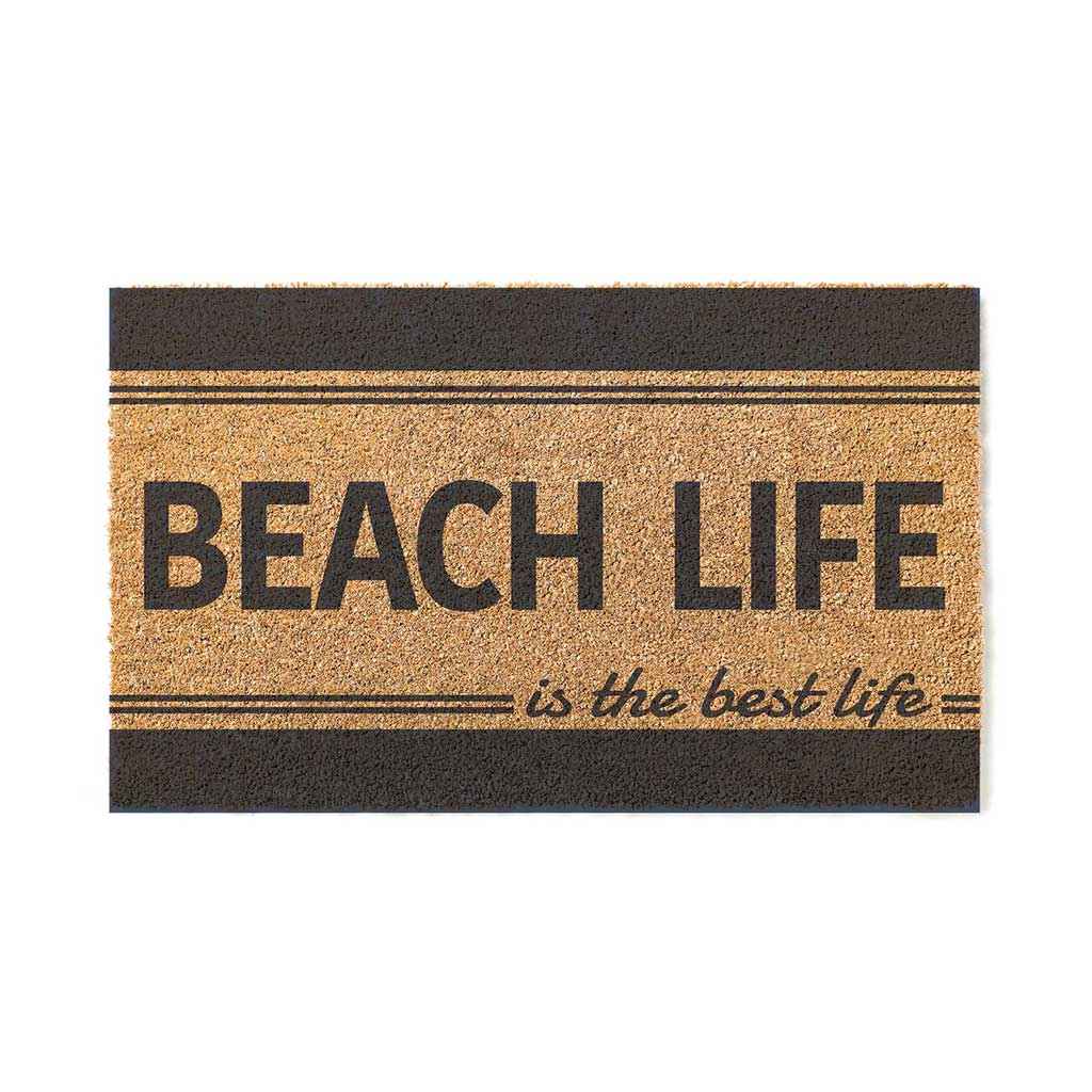 18x30 Coir Doormat Beach Life is Best Stripe