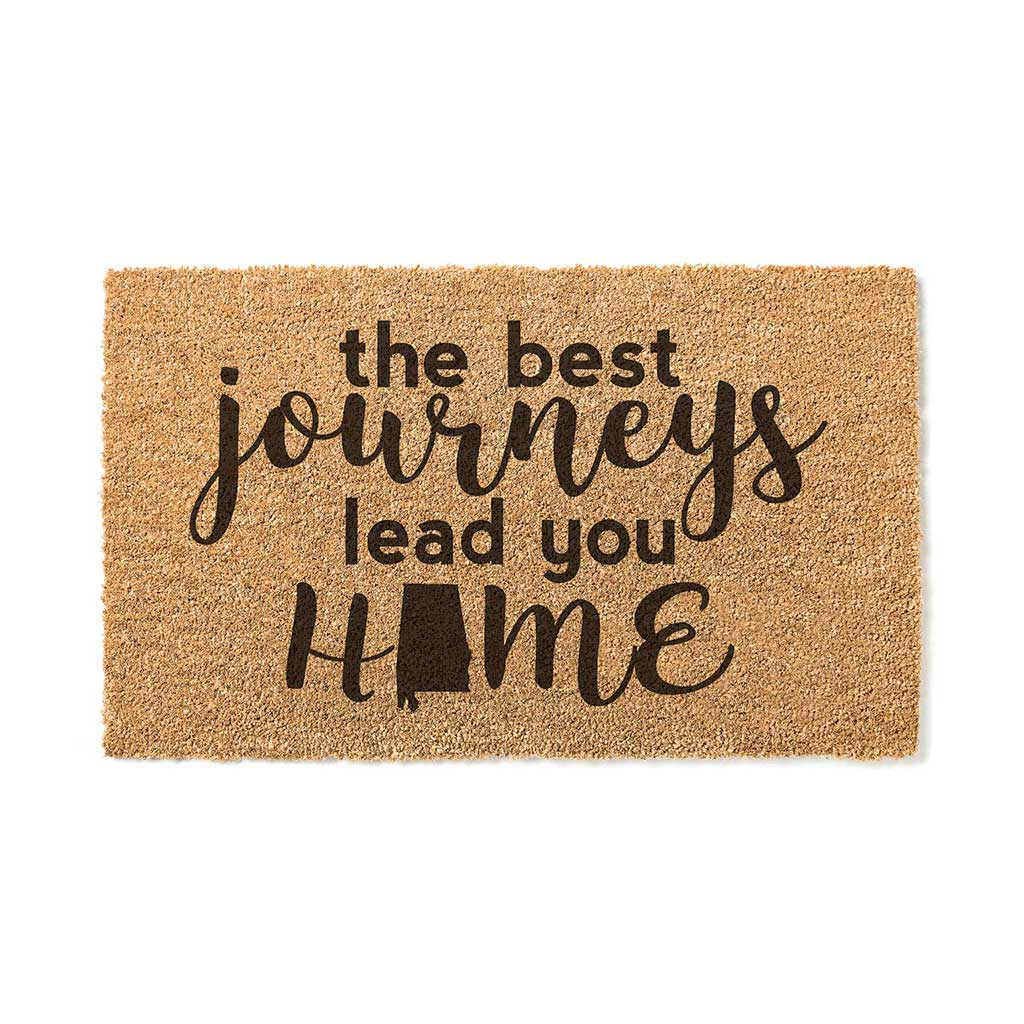 18x30 Coir Doormat Best Journeys Alabama