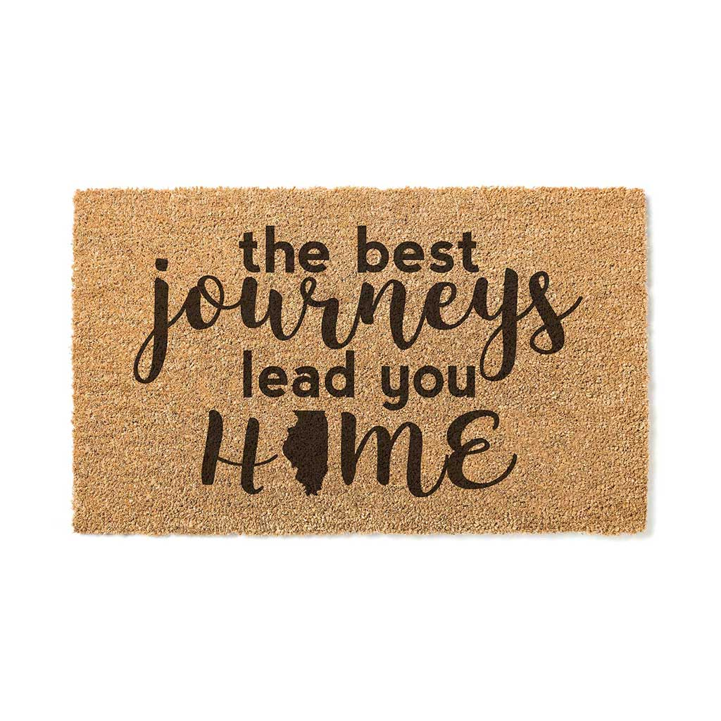 18x30 Coir Doormat Best Journeys Illinois