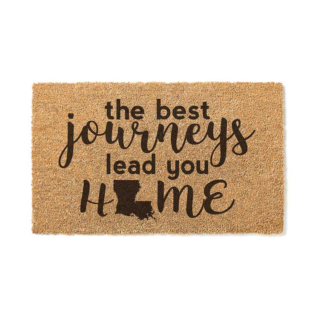 18x30 Coir Doormat Best Journeys Louisiana