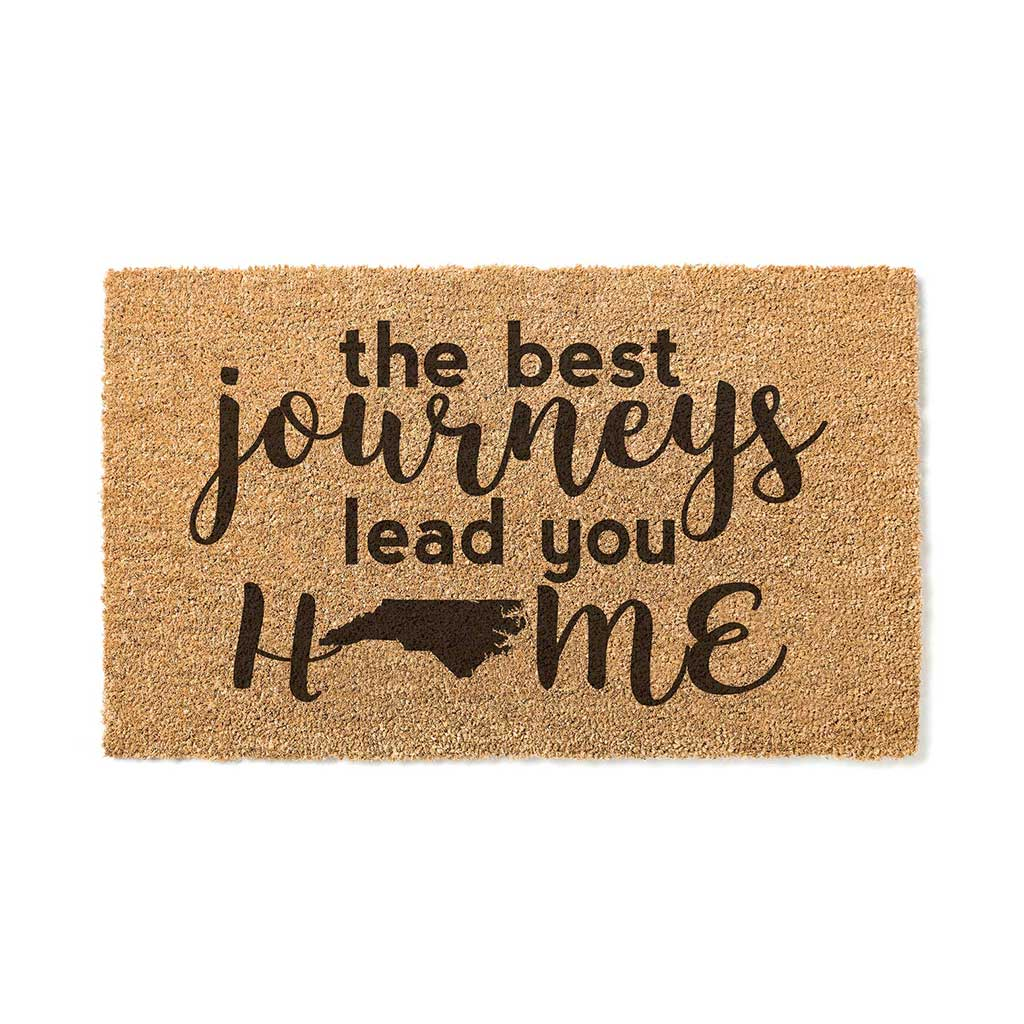 18x30 Coir Doormat Best Journeys North Carolina