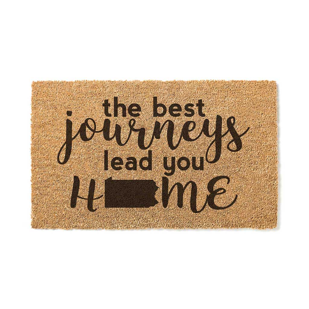 18x30 Coir Doormat Best Journeys Pennsylvania